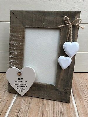Shabby personalised Chic Photo Frame In Memory Of Loved One DAD Nana Grandad etc