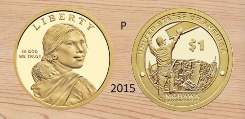 Golden Dollar Uncirculated 2015-P  SAC$  Native American Sacagawea
