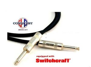 3ft-HUSH-Instrument-Cable-Conquest-Sound-Made-in-USA-Lifetime-Warranty