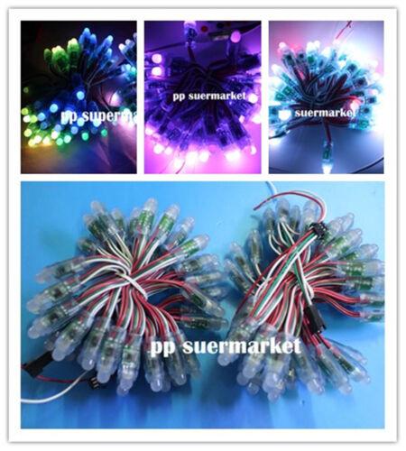 WS2811 RGB Full Color 12mm Pixels digital Addressable LED String DC 12V 100pcs