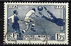 France 1938 3ème Coupe mondiale de football Yvert n° 396 oblitéré 1er choix (2)