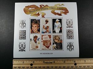 Sierra Leone, Princess Diana 1961-1997 In Memory Of, Sheet of 6, MNH