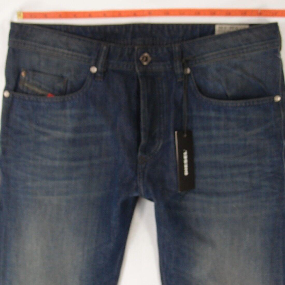 NEW Mens Diesel BUSTER 0849B Stretch Slim-Tapered bluee Jeans W33 W32 L34 BNWT