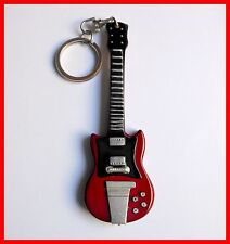 AC/DC ANGUS YOUNG - GUITARE MINIATURE PORTE CLE! KEYCHAIN Anneau Ring Electrique