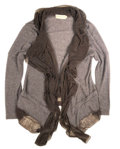 rug de open M Pretty draperen Verstoorde A0p vest aan Brown Angel voorzijde Linnen voor rthsdQC