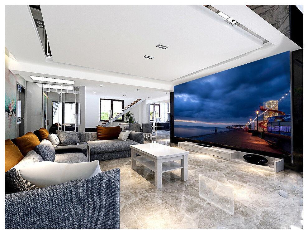 3D Sturm Wolken Küste 996 Tapete Wandgemälde Tapeten Bild Bild Bild Familie DE Lemon | Marke  | Billig  |  30d5d1