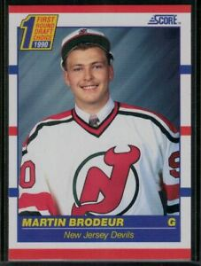 1990 91 Score Hockey 439 Martin Brodeur Rookie Card First Round