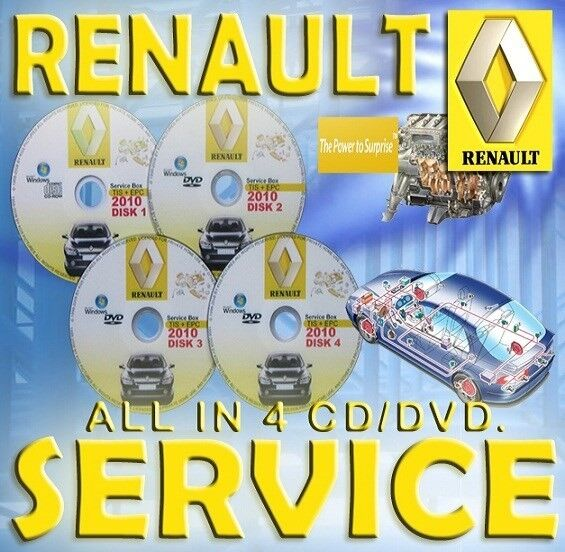 RENAULT REPARATIONS SERVICE MANUAL PÅ 4 CD / DV...