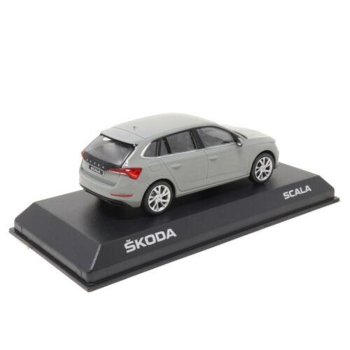 Skoda Scala 1:43 Modellauto Stahl Grau 657099300 F7A Miniatur Modell Steel Grey