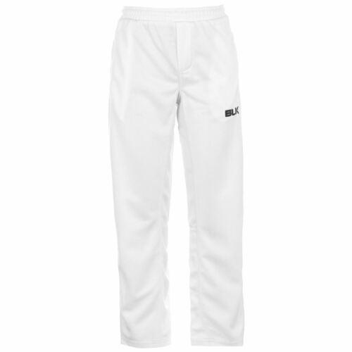 BLK Kids Boys Cricket Trousers Pants Bottoms Breathable Mesh Stretch Drawstring