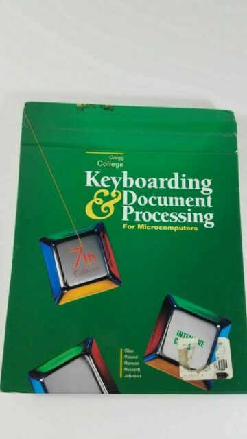 Gregg College Keyboarding and Document Processing for Microcomputers,...7th ed