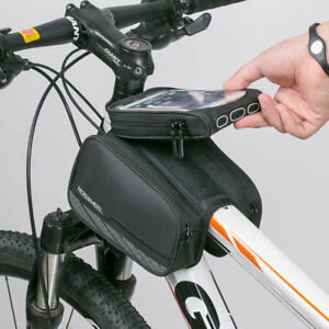 Roswheel Bike Frame Tube Bag Water Resistant Bicycle Bag Front Top Polyester PVC