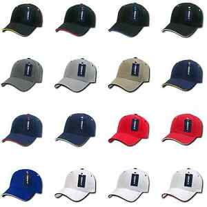 1 Dozen Blank DECKY Sandwich Visor Pro Baseball Hats Hat Caps Wholesale Lot