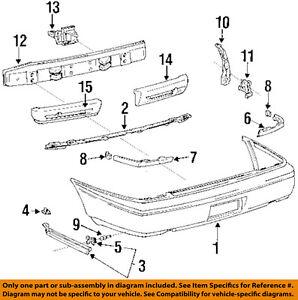 Sedan Set of 2 Bumper Filler For 93-97 Toyota Corolla 4-Door