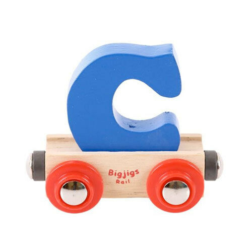Bigjigs - Rail Name Letter  C Blue NEW toy wooden rail train system accessory