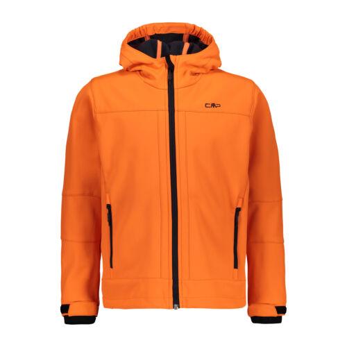 CMP Jungen Softshelljacke Jacke BOY JACKET FIX HOOD orange wasserdicht Unifarben