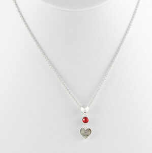 fd03ca14d46 Image is loading Gucci-Trademark-Heart-Pendant-925-Silver-Necklace -YBB325871002-