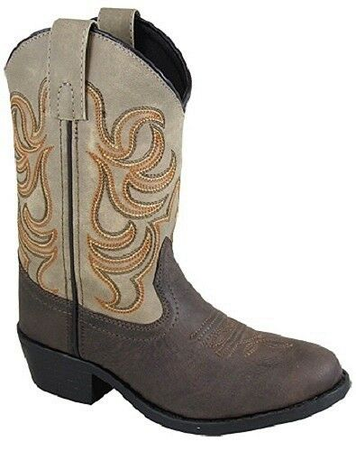 Smoky Mountain YOUTH Brown Tan Western Style Round Toe Leather Cowboy Boots SALE