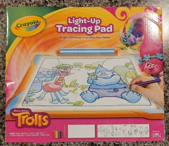 Crayola Trolls Light Up Tracing Pad Coloring Board For Kids Gift For Sale Online Ebay