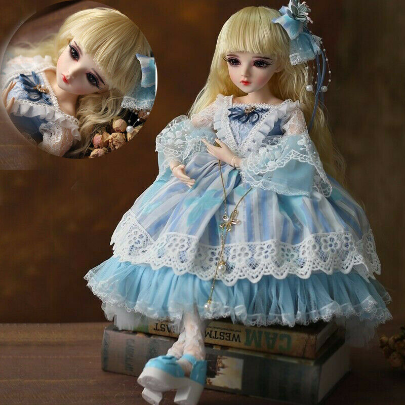 1 3 60cm BJD Doll with Replaceable Eyes CMassehes Wigs schuhe Face Makeup Full Set