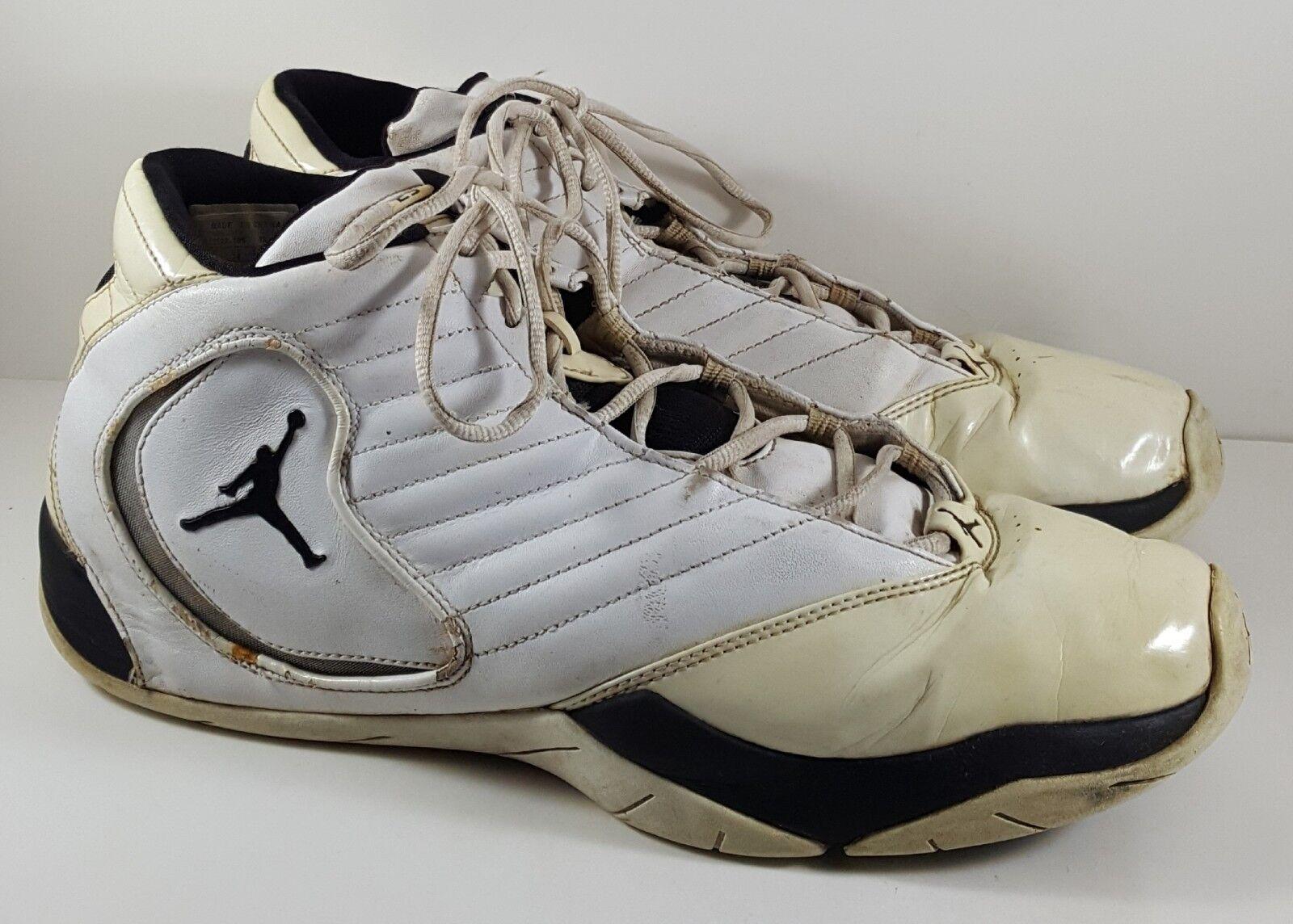 new arrival b4f6b ccf5b Nike Nike Nike Air Jordan B 2 Rue- White Black Silver Size 15