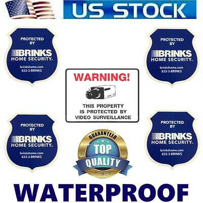 HOME SECURITY ALARM SYSTEM WARNING FENCE SIGNS+SMILE DECAL STICKERS