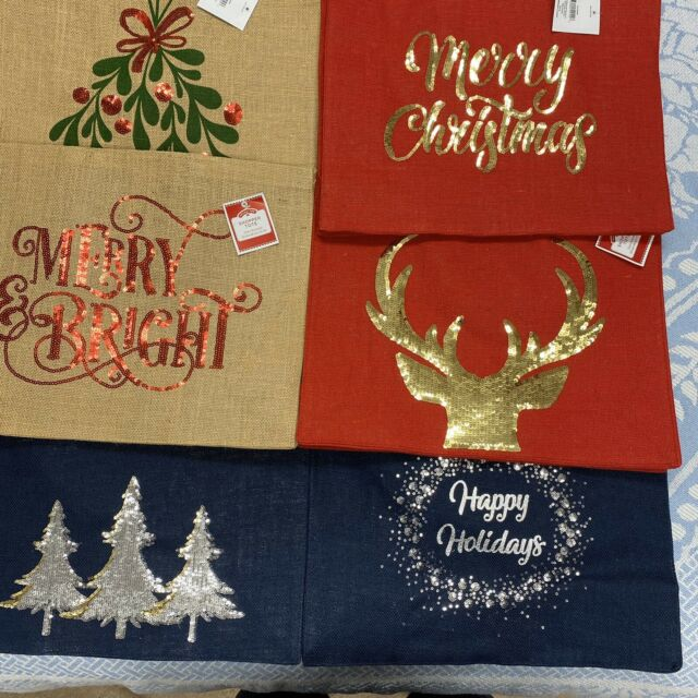 A Pretty Red Deer Large Natural Jute Shopping Bag Christmas Gift Idea Ade 2bln For Sale Online Ebay