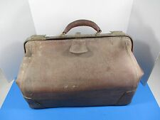 Rugged Antique Large Leather Doctor's Bag Barn Find Clasps Work VSL