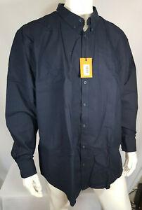 Ben-Sherman-Camisa-para-hombre-Manga-Larga-Algodon-Puro-Azul-Marino-Talla-4XL-5XL-RRP-59-99