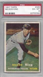 1957-Topps-baseball-card-349-Nelson-King-Pittsburgh-Pirates-graded-PSA-6-TUFF