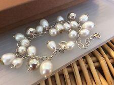 Silpada Bracelet B3328 FLIRT ALERT .925 Sterling Silver Pearls & Brass Cha Cha