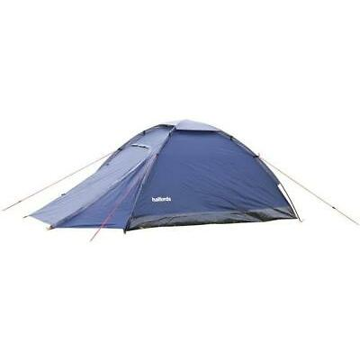 Halfords 2 Man Person XL Dome Tent With Porch 210cm x 150cm 2000mm Waterproof