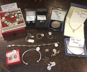 MAKE-OFFER-CLEARING-OLD-JEWELLERS-storeroom-JOB-LOT-Old-silver-Jewellery