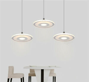Details About Modern Led Light Kitchen Bar Pendant Lamp Lighting Circular Acrylic Ceiling