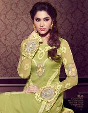 Designer Pure Georgette Salwar Kameez Green Color Beautiful Looking Suit