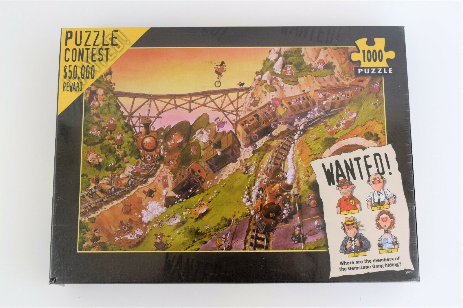 New Sealed Heye WANTED  Puzzle Contest  50,000 REWARD Jigsaw 1000 Pieces 2003