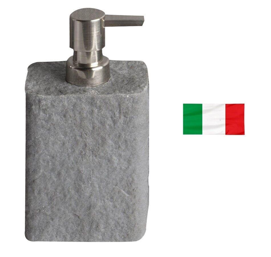 Seifenspender zum Stellen, Imitation Stein, ARIES-Serie grau