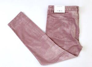NWT-Ann-Taylor-Loft-Women-Curvy-Pink-Stretchy-Ankle-Corduroy-Skinny-Pants-31-32