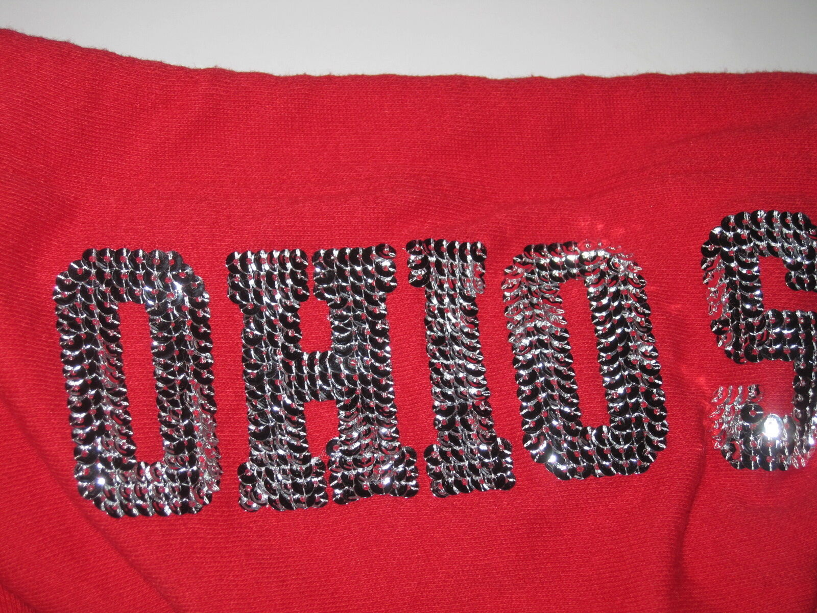 NWT VICTORIA'S SECRET PINK OHIO OHIO OHIO STATE BLING RED SEQUIN ZIP UP HOODIE SWEATSHIRT 1f5120
