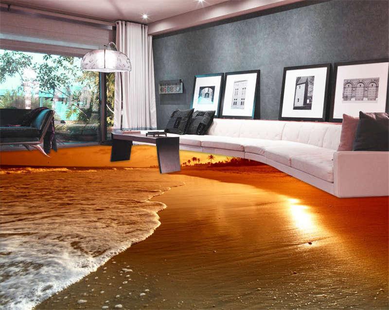 Best Sunrise Picture 3D Floor Mural Photo Flooring Wallpaper Home Kid Wall Decal