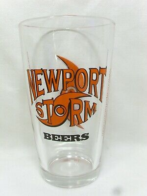 NEWPORT STORM BEERS PINT BEER GLASS COASTAL EXTREME BREWING COMPANY RHODE ISLAND