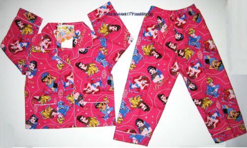 BNWT Princess girls long sleeves shirt Pyjamas new pajamas sleepwear