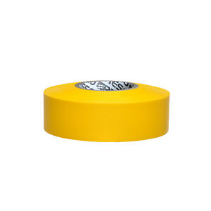 PRESCO PRODUCTS CO SWY-200 Flagging Tape,Wh//Yllw,300 ft x 1-3//8 In