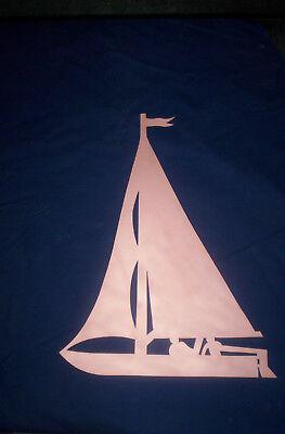 100% QualitäT Boot, Jolle, Segelboot, Kupfer, Motiv, Wetterfahne, Deko, Geschenk, SchöNe Lustre