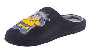 Mens Family Guy Velour Navy Mule Slippers - Real Life Action Hero Slip On 6-12 Angemessener Preis