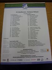 14/04/2017 Colour Teamsheet: FC Eindhoven v Fortuna Sittard. We try and inspect