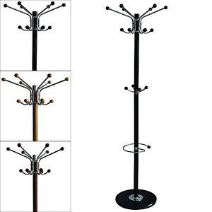 Details About 70 Metal Coat Rack 16 Hook With Umbrella Holder Home Basics