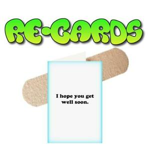 Details about re cards get well soon greeting card funny adult humor dirty raunchy image is loading re cards get well soon greeting card funny m4hsunfo