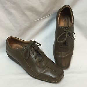 Rockport-DMX-Shoes-Closed-Toe-Womens-7-5-M-Casual-Oxfords-Lace-Up-Leather-Square