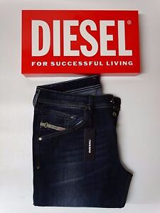 6fcfe34d Image is loading Diesel-Jeans-Belther-Slim-Fit-0814W-Stretch-BNWT
